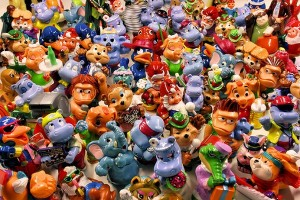 Picture of hundreds of troll dolls